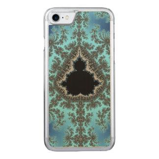 Mandelbrot Snowflake - baby blue fractal design Carved iPhone 7 Case