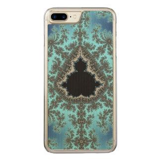 Mandelbrot Snowflake - baby blue fractal design Carved iPhone 7 Plus Case