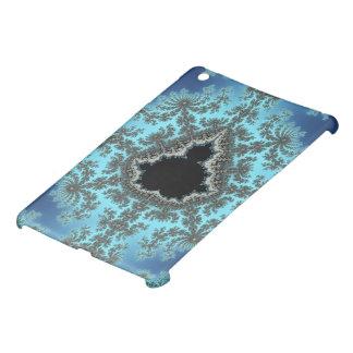 Mandelbrot Snowflake - baby blue fractal design Cover For The iPad Mini
