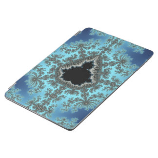 Mandelbrot Snowflake - baby blue fractal design iPad Air Cover