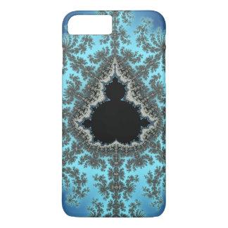 Mandelbrot Snowflake - baby blue fractal design iPhone 7 Plus Case