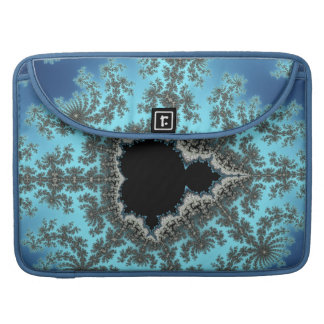 Mandelbrot Snowflake - baby blue fractal design MacBook Pro Sleeve