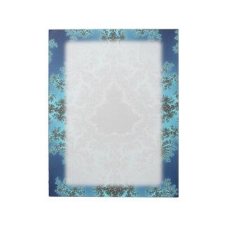 Mandelbrot Snowflake - baby blue fractal design Scratch Pad