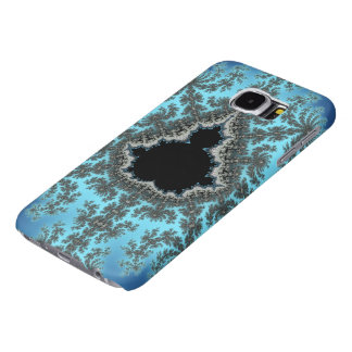 Mandelbrot Snowflake - baby blue fractal design Samsung Galaxy S6 Cases