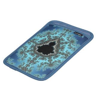 Mandelbrot Snowflake - baby blue fractal design Sleeve For iPad Mini
