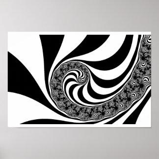 Mandelbrot Zebra Spiral Posters