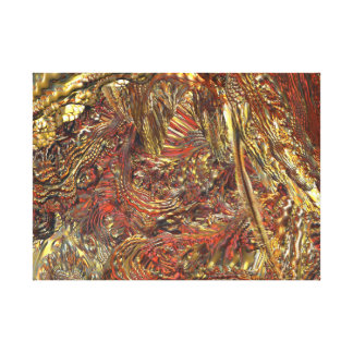 MANDELBULB 3D GOLD COPPER SILVER STRETCHED CANVAS PRINTS