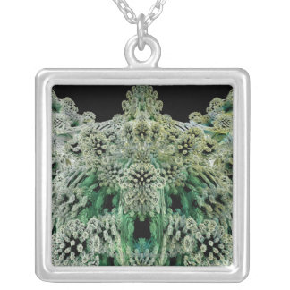 Mandelbulb Fractel 4 Silver Plated Necklace