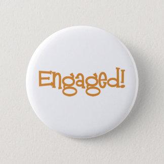 Mandi-Engaged-Orng 6 Cm Round Badge