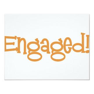 Mandi-Engaged-Orng Card