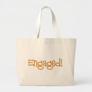 Mandi-Engaged-Orng Large Tote Bag