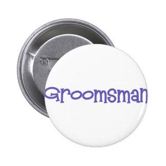 Mandi-Groomsman-Ind 6 Cm Round Badge