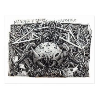 Mandible Death Operator by Brian Benson Postcard