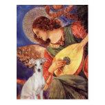 Mandolin Angel - -Italian Greyhound 7 Postcard