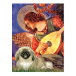 Mandolin Angel - Pekingese 1b Postcard