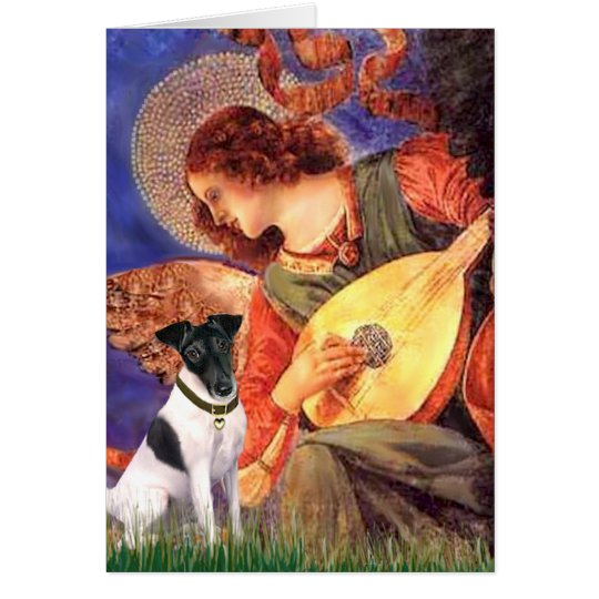 Mandolin Angel - Smooth Fox Terirer Card