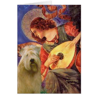 Mandolin Angel - Wheaten Terrier 2C Card