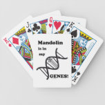 Mandolin in my Genes Bicycle Playing Cards