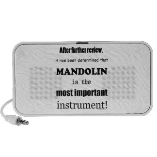 Mandolin Most Important Instrument iPod Speakers