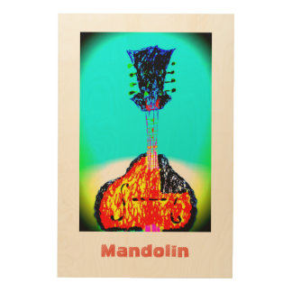 Mandolin Wood Wall Art