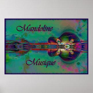 Mandoline Musique Print