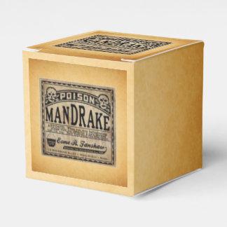 Mandrake Poison Vintage Label Halloween Favors Favour Box