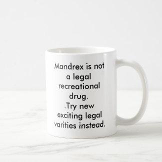 Mandrex is not a legal recreational drug..Try n... Basic White Mug