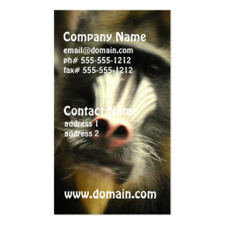 Mandrill Face Business Cards