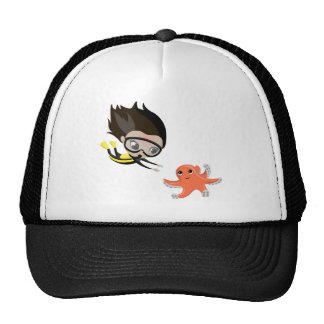 Mandy and Bubbles the Octopus Cap