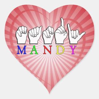 MANDY   NAME ASL FINGER SPELLED STICKERS
