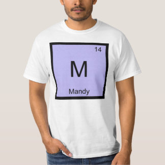 Mandy Name Chemistry Element Periodic Table Tee Shirt
