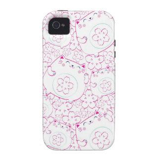 Maneki Neko Cats Pattern Case-Mate iPhone 4 Case