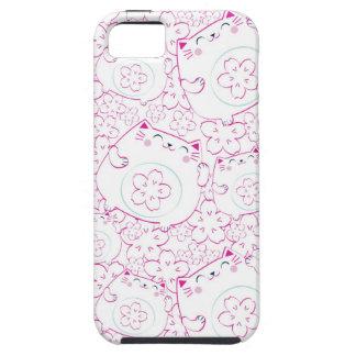Maneki Neko Cats Pattern iPhone 5 Case