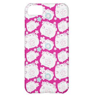Maneki Neko Cats Pattern iPhone 5C Cases