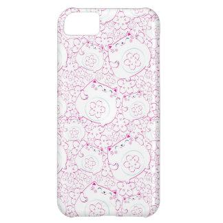 Maneki Neko Cats Pattern Case For iPhone 5C