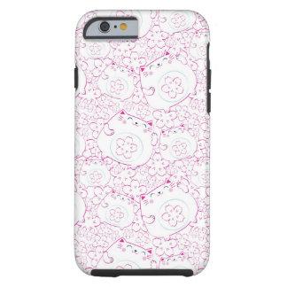 Maneki Neko Cats Pattern Tough iPhone 6 Case