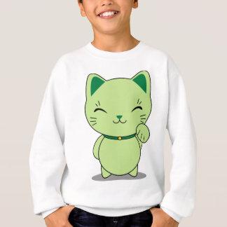 Maneki Neko - Green Lucky Cat Sweatshirt