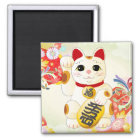 Maneki Neko Japanese Fortune Cat Magnet