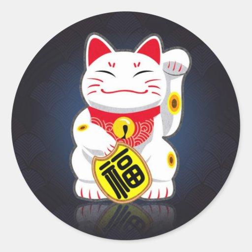 Maneki-neko - Japanese Lucky Cat Sticker