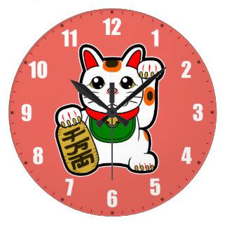 Maneki Neko: Japanese Lucky Cat Wall Clock