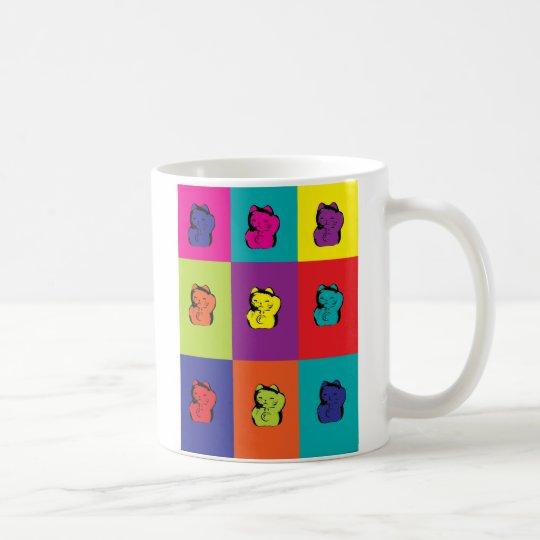 Maneki Neko Kitty Pop Art mug