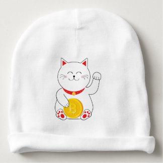 Maneki Neko Lucky Cat Bitcoin Baby Beanie