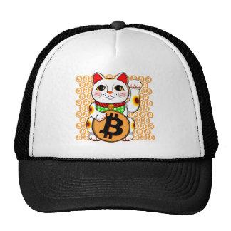 Maneki Neko Lucky Cat Bitcoin Left Paw Cap