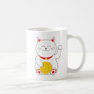 Maneki Neko Lucky Cat Bitcoin Mug