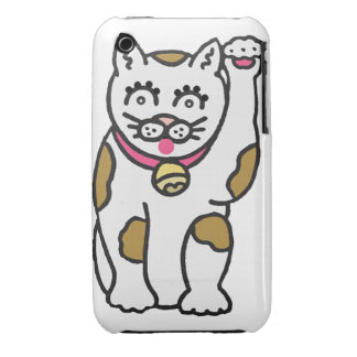 Maneki Neko, Lucky Cat Blackberry Curve Case-Mate  iPhone 3 Cover