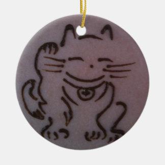 Maneki Neko (Lucky Cat) Henna Ornament