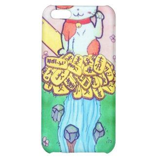 Maneki Neko lucky cat iphone4 case Cover For iPhone 5C
