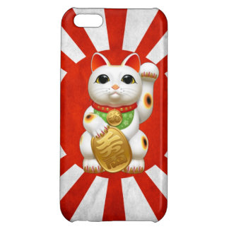 maneki-neko lucky cat japanese charm talisman welc cover for iPhone 5C
