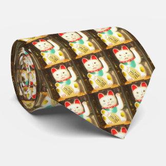 Maneki-neko, Lucky cat, Winkekatze Tie