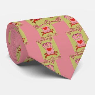 Maneki Neko Pink Cat with Hearts Tie